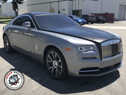 Rolls Royce Wrapped in Custom Two Tone
