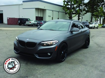 BMW 235i Satin Dark Grey