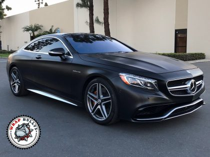 Satin Black Mercedes S63 AMG