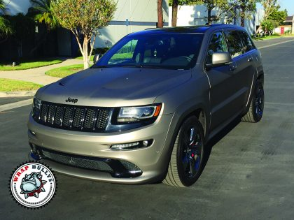 Jeep SRT8 Wrapped in 3M Matte Gray Aluminum