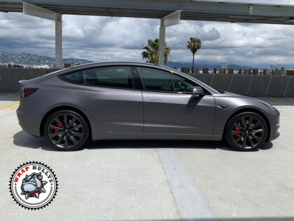 3M Matte Dark Gray Tesla Model 3