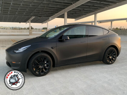Tesla Model Y 3M Deep Matte Black Car Wrap