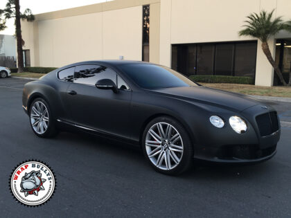 Bentley Wrapped in 3M Deep Matte Black